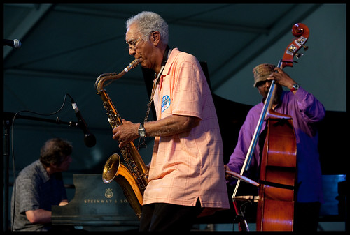 Kidd Jordan and the Improvisational Arts Quintet at Jazz Fest 2013. By Ryan Hodgson-Rigsbee (http://rhrphoto.com/)