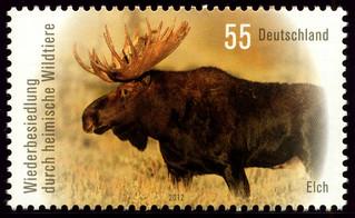Deutschland 2012 - Elch (Alces alces)   by Alfredo Liverani - stamps