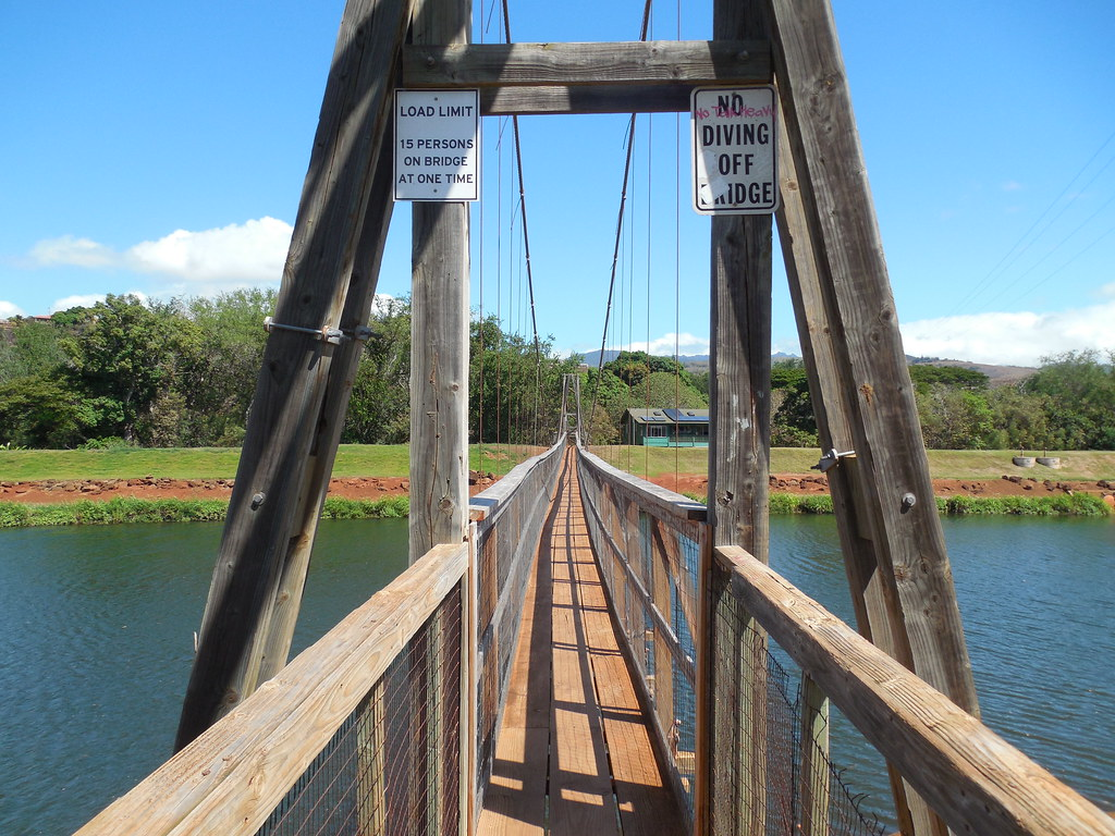 The Swinging Bridge Hanapepe Kauai Hawaii Constructed Or