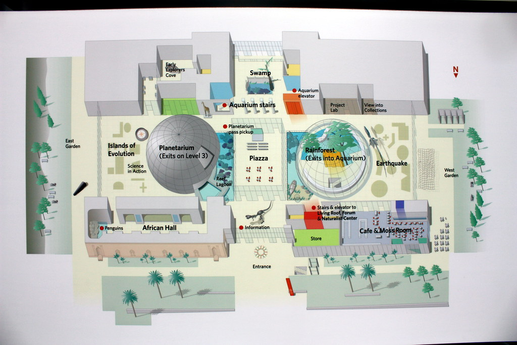 California Academy Of Sciences Map on