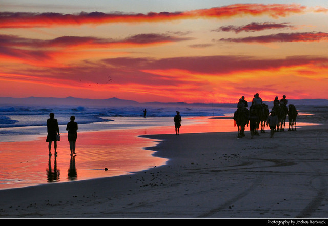 Sunset @ Stockton Beach, Port Stephens, Australia