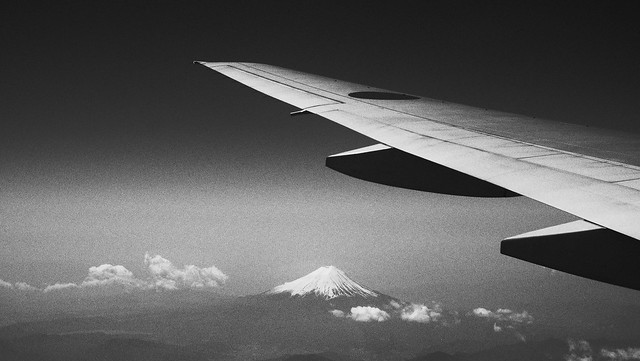View from airplane | Mount Fuji