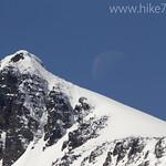 Moon near Swiftcurrent Pass