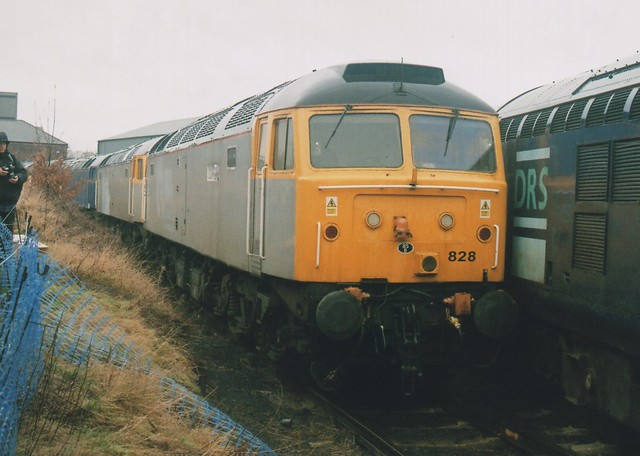 Stored Cotswold Rail Silver Class 47/8's, 47828 & 47813, & Blue 47818