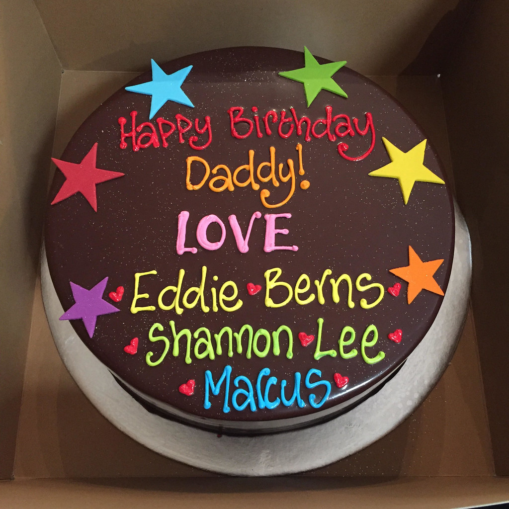 Awesome Wicked Chocolate Cake With Piped Birthday Message In Brigh Flickr Funny Birthday Cards Online Eattedamsfinfo