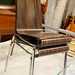 Wedge and chrome cafe chair E30