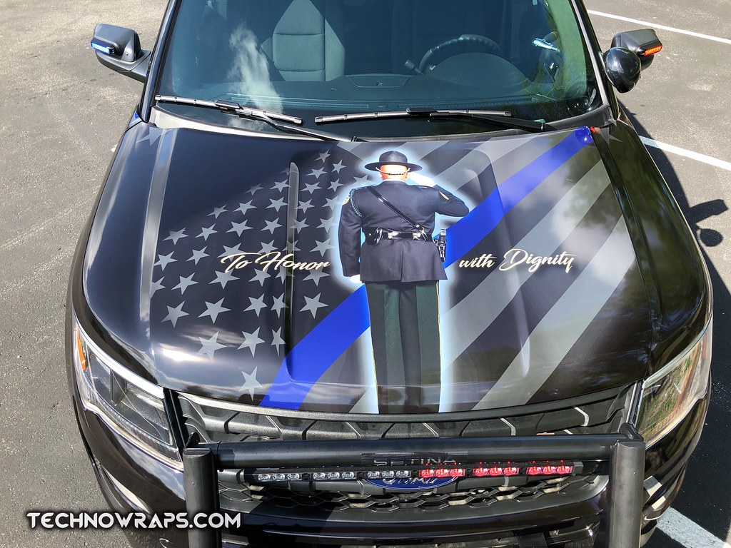 Police Thin Blue Line Vehicle Wrap By Technosigns Police