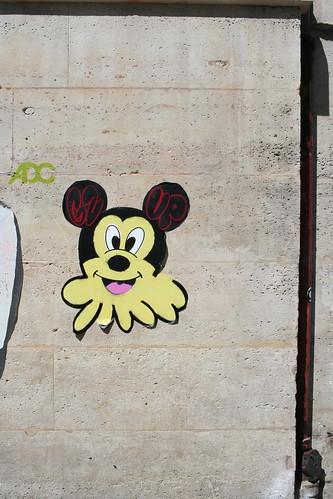 Mickey Mouse wheatpaste   by Jürgo