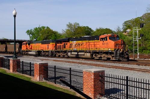 bnsf railway ge es44ac 6111 dalton georgia