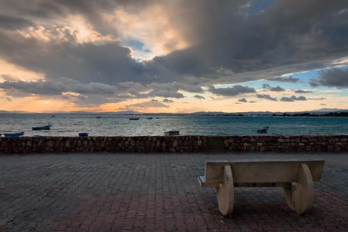 sunset hammamet tunis tunisia mediterrian africa sakin travel sea