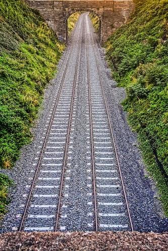 tracks railroadtracks traintracks green dublin ireland bridge underpass iphone iphone5s
