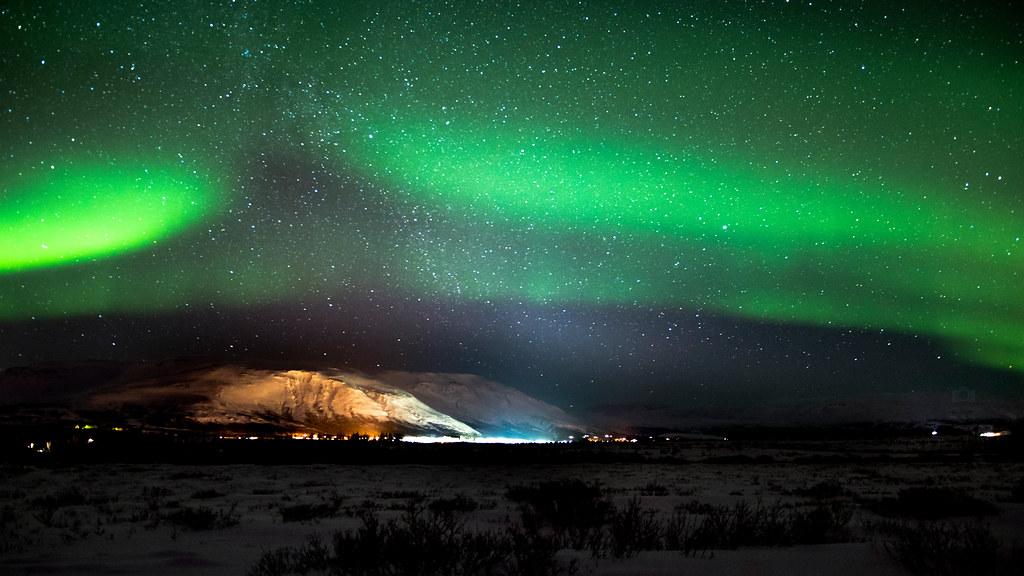 Iceland Aurora Borealis Laugarvatn 4k Wallpaper Deskto