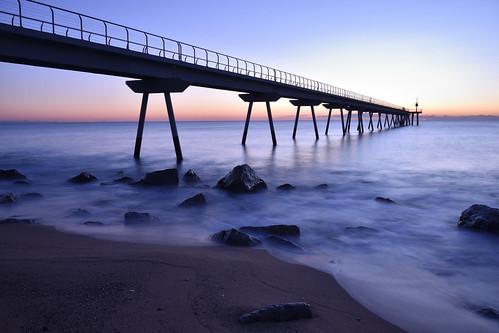 bridge into the blue water