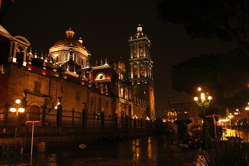 Noche de lluvia en el Centro