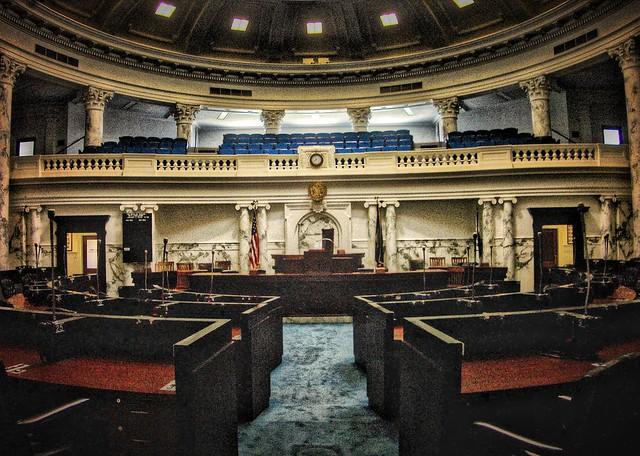 Bosie Idaho ~  Idaho State Capitol ~ Senate Chambers  ~ Historic