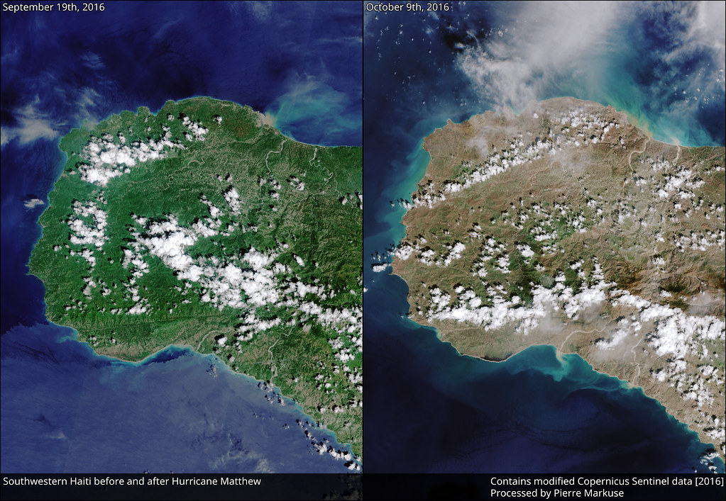 Earth from Space: Southwestern Haiti before and after Hurricane Matthew