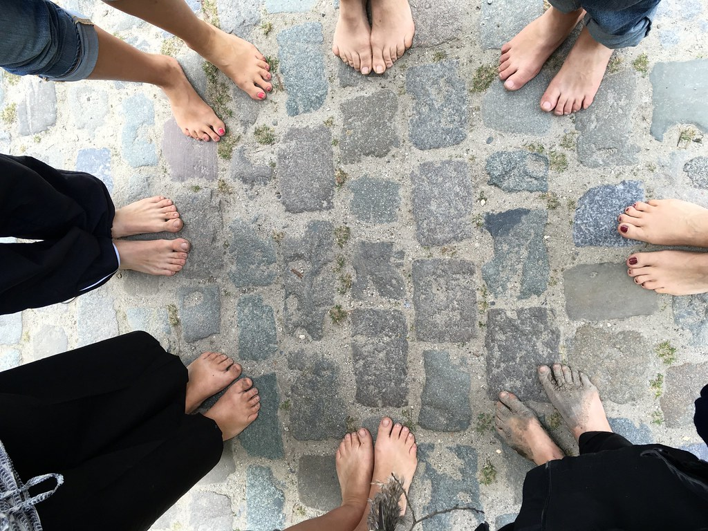 end of barefoot walk