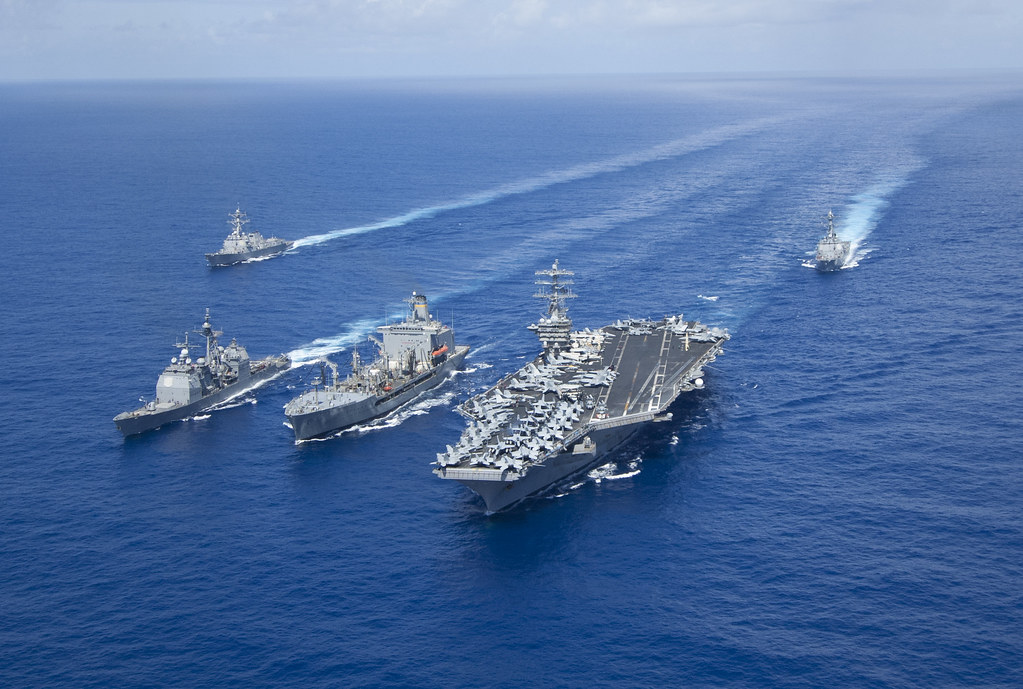 The Nimitz Carrier Strike Group conducts an underway.