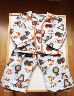 A bear and a fox PJs