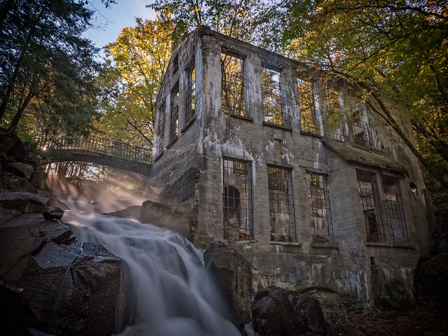 """The """"Carbide"""" Willson Mill ruins in Gatineau Park, Quebec"""