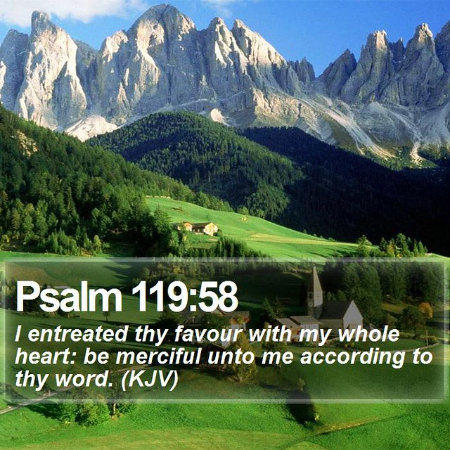 Daily Bible Verse - Psalm 119:58 | Psalm 119:58 I entreated … | Flickr