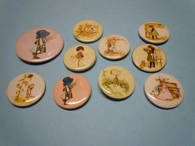 Holly Hobbie 1972 Pins set