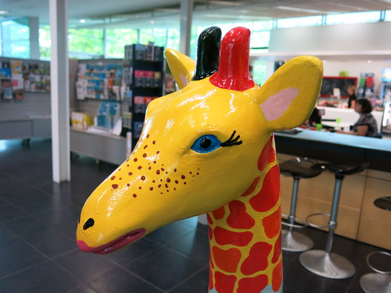 Christchurch Stands Tall giraffes at South Library