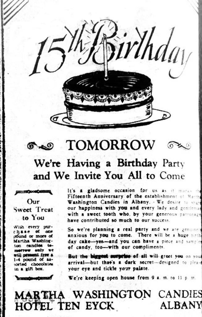 Fabulous Martha Washington Candies Ten Eyck Hotel 1929 Albany Ny 19 Flickr Funny Birthday Cards Online Ioscodamsfinfo