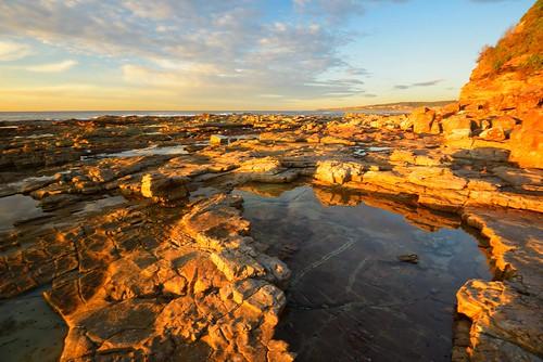 swanseaheads newsouthwales australia nikond750 nikon1635mmf4 seascape rocks ocean shore goldenlight