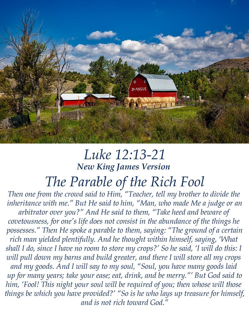 Luke 12:13-21 | New King James Version (NKJV) The Parable ...
