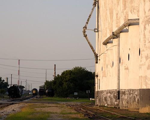 coffeyville kansas railroad tracks siding rough grainelevator