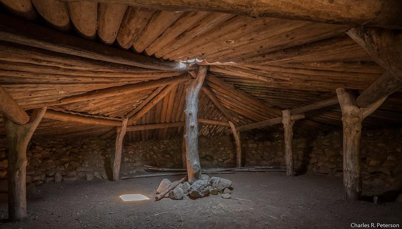 Interior of Recreated Miwok Sweatlodge - California