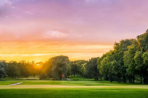 Sunset Over Brown Deer Golf Course | by VBuckley.com