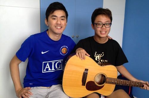 Beginner guitar lessons Singapore Bryce