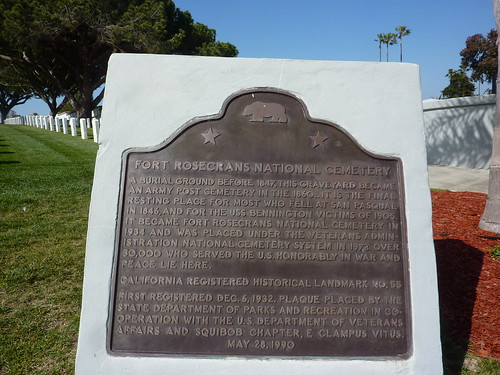 P1180313 California Historical Landmark plaque at Fort Rosecrans National Cemetery | by jawajames