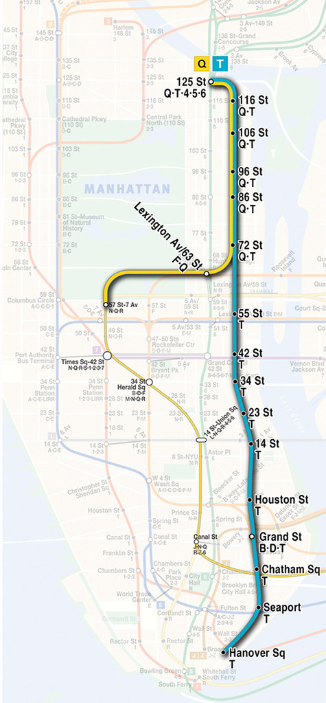 Central Subway Map.Second Avenue Subway Map This Map Shows The Full Length Se Flickr