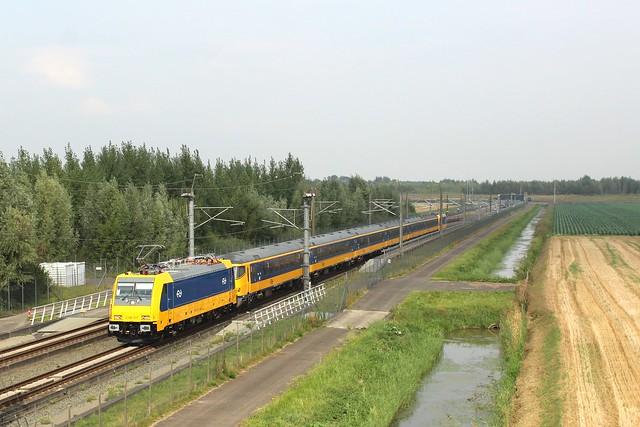 Afnamerit HSL voor E186 037 bij Puttershoek