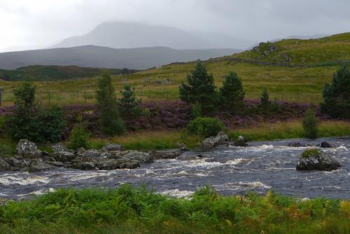 river rivergaur scotland leicadlux6 dlux6 schotland meadow water heather heathland landscape unitedkingdom thehighlands