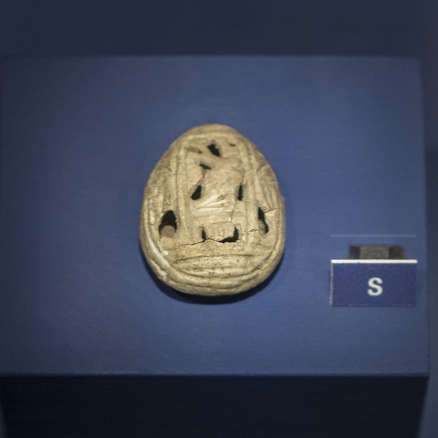 Faience amulet in the form of a Cypraea shell from Tomb 68 at Via Madonna delle Grazie, Stabiae