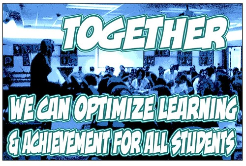 """Education Postcard:  """"WRDSB: Together we can optimize learning and achievement for All students."""""""