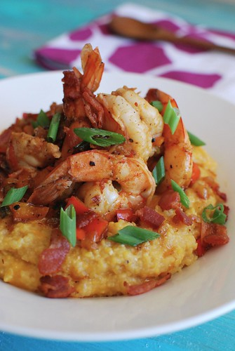 Bacon & Shrimp Cheesy Grits | by The Culinary Chronicles