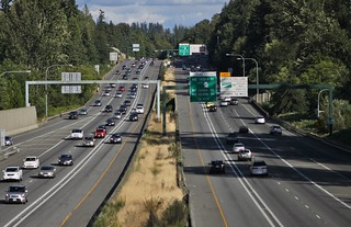 I-405 at Canyon Park, looking south | by SounderBruce