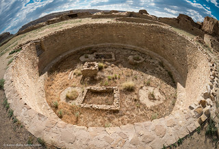 Pueblo Bonito great kiva wide angle | by Vironevaeh