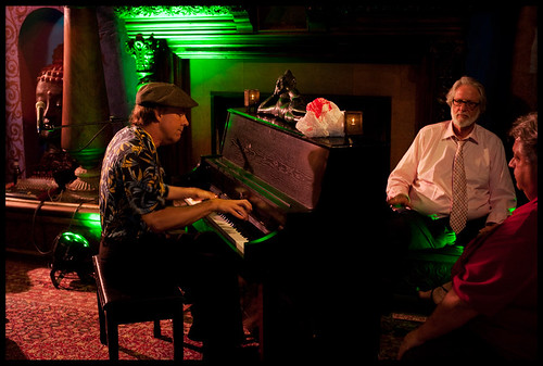 Tom McDermott at WWOZ's Piano Night.  Photo by Ryan Hodgson-Rigsbee www.rhrphoto.com
