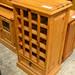Natural pine wine rack E120