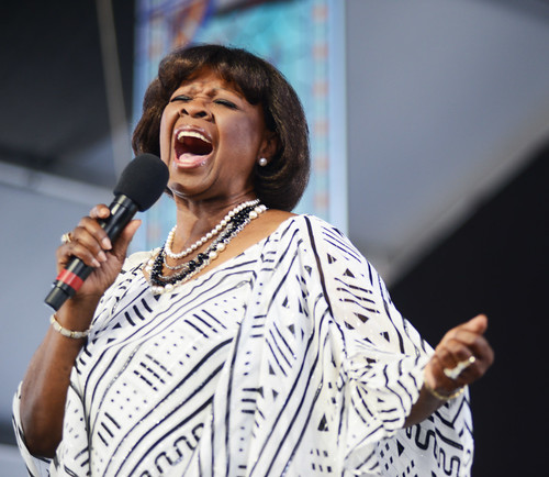 Irma Thomas on Day 7 of Jazz Fest - May 6, 2018. Photo by Leon Morris.