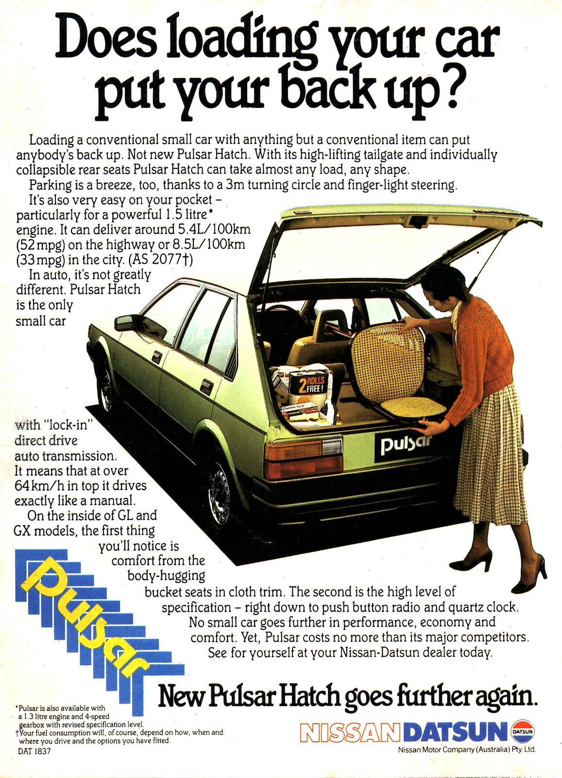 1983 Datsun Pulsar Hatchback N12 Nissan Aussie Magazine