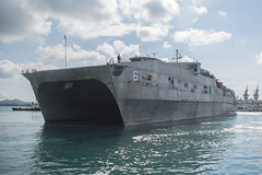 USNS Brunswick (T-EPF 6) arrives in Sattahip, May 19. (U.S. Navy/MC2 Joshua Fulton)