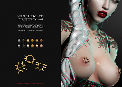 SU! Nipple Piercings Collection | by Eleanor Cyberstar