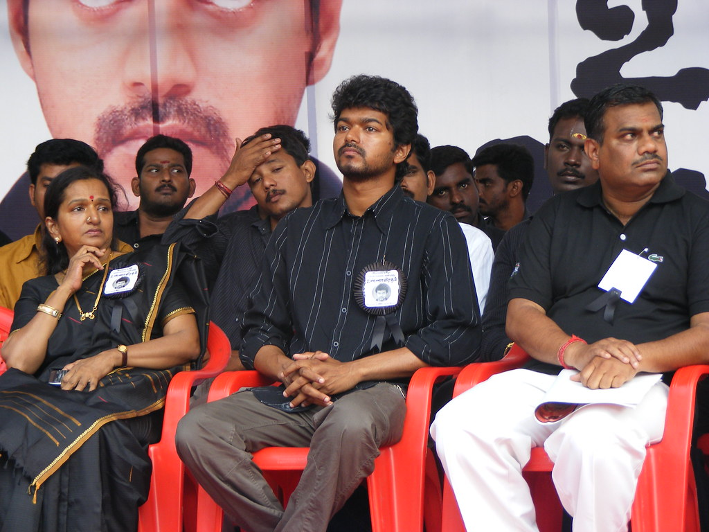 Thalapathy Vijay & fans fast over Eelam Tamils (2008) | Flickr
